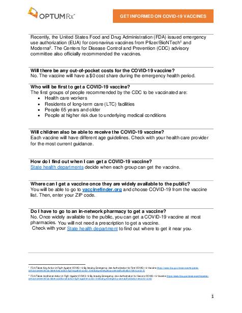 B2 C COVID 19 Member FAQ Dec 2020